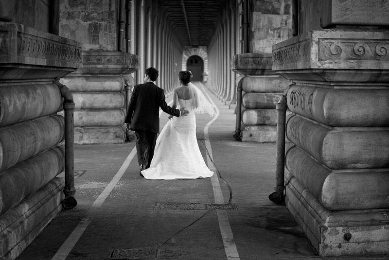 photo de mariage paris pont