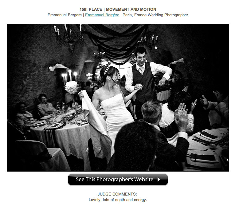 Photo de mariage concours ISPWP