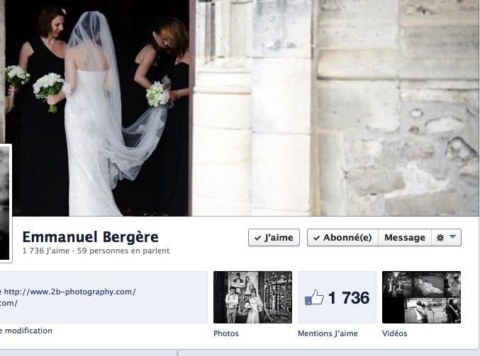 page facebook Emmanuel Bergère